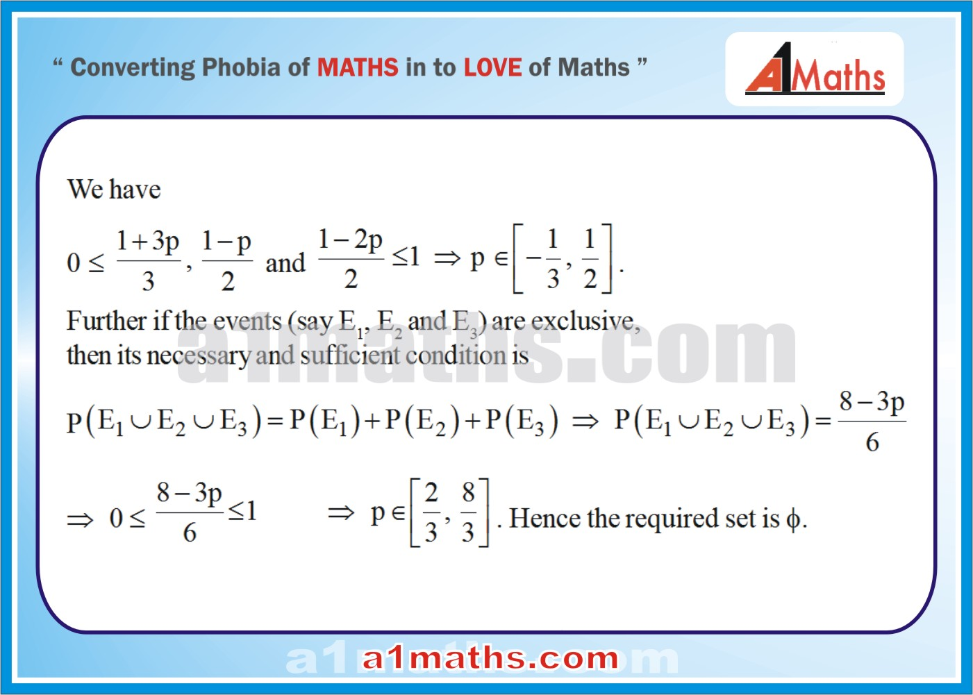 Objective -Solved Problems-3-1-Probability-Algebra-2- IIT-JEE