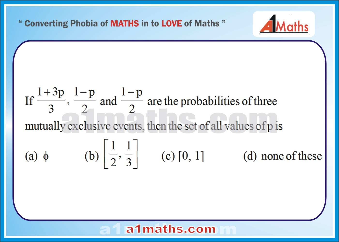 P-Objective -Solved Problems-3-1-Probability-Algebra-2- IIT-JEE