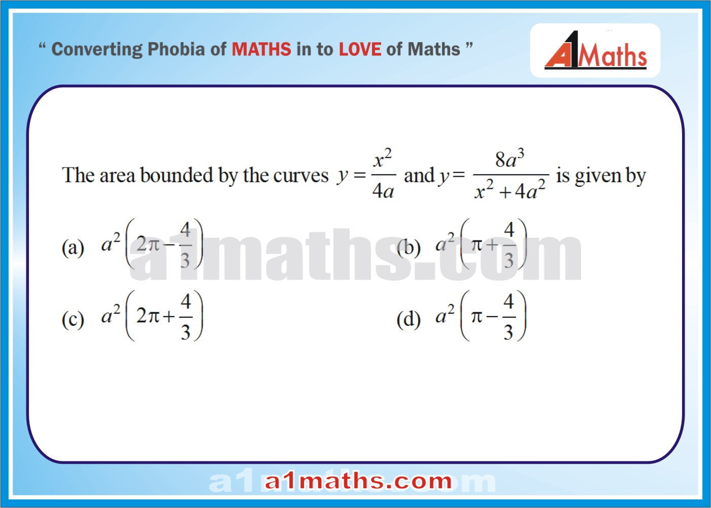 P-Solved Objective-Questions-14-1-Area- Differential Calculus--IIT-JEE