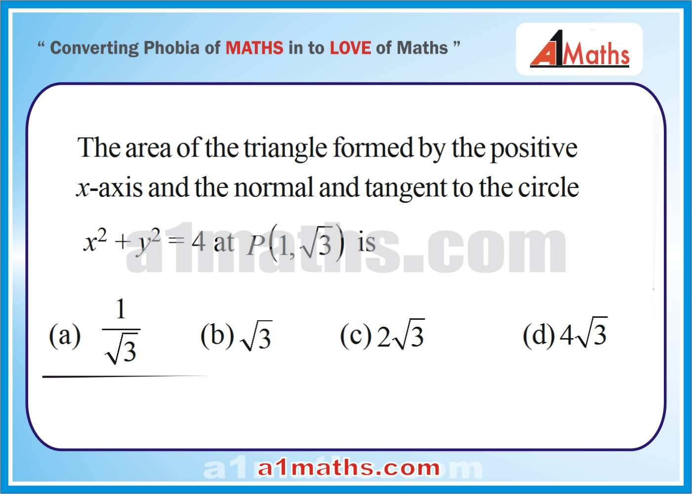 P-Solved Objective-Questions-17-1-Area- Differential Calculus--IIT-JEE