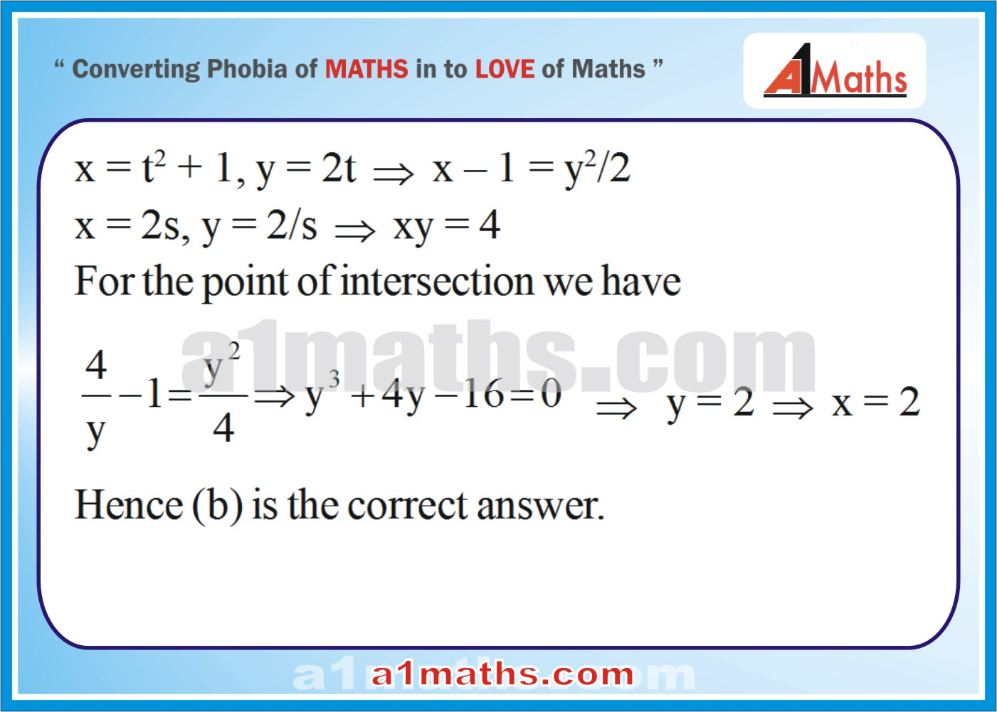 Objective -Solved Examples-6-1- Hyperbola-Coordinate Geometry-IIT-JEE