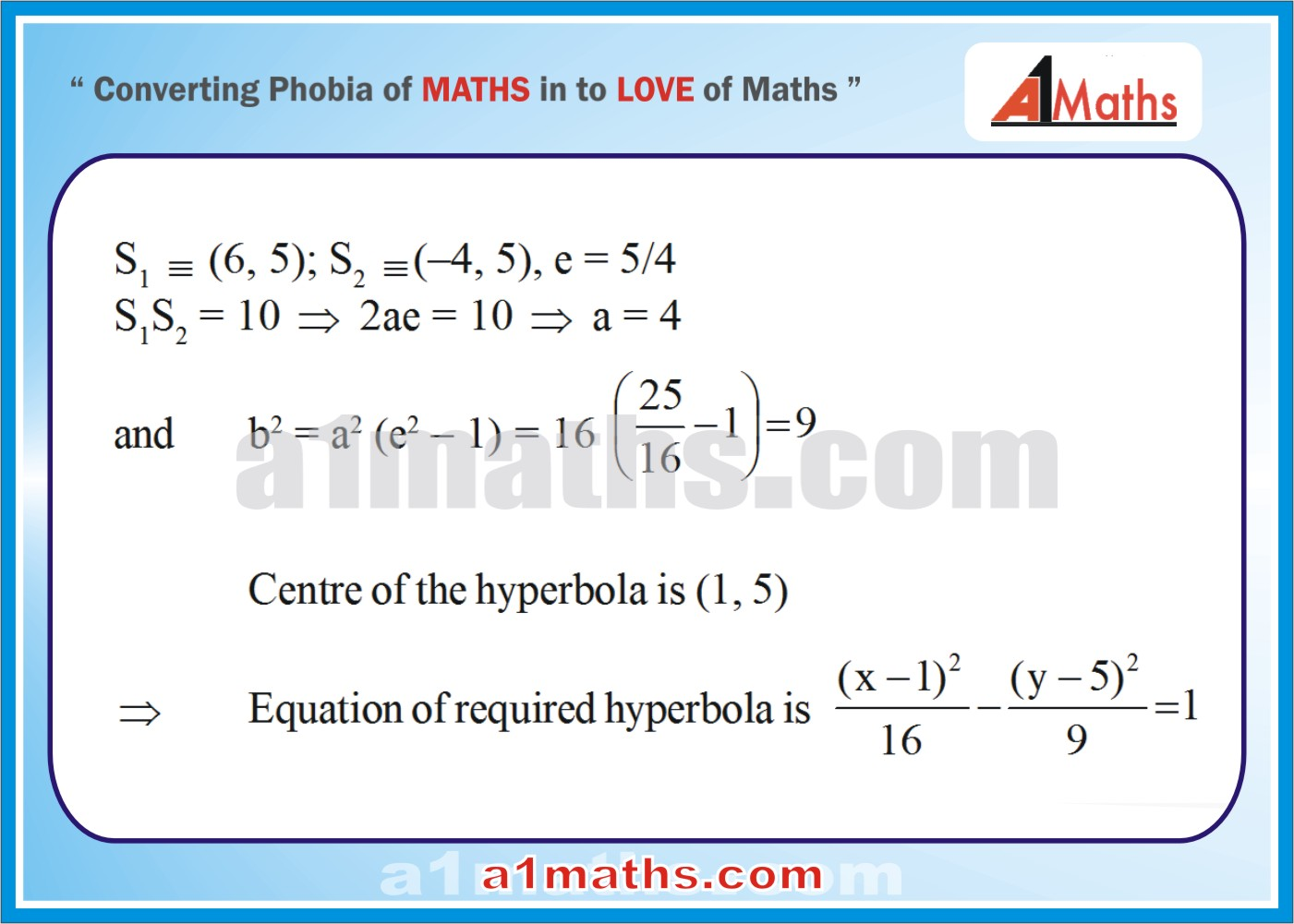 Objective -Solved Examples-7-1- Hyperbola-Coordinate Geometry-IIT-JEE