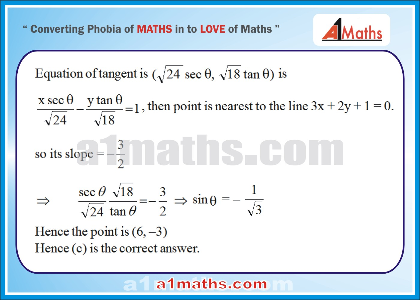 Objective -Solved Examples-9-1- Hyperbola-Coordinate Geometry-IIT-JEE