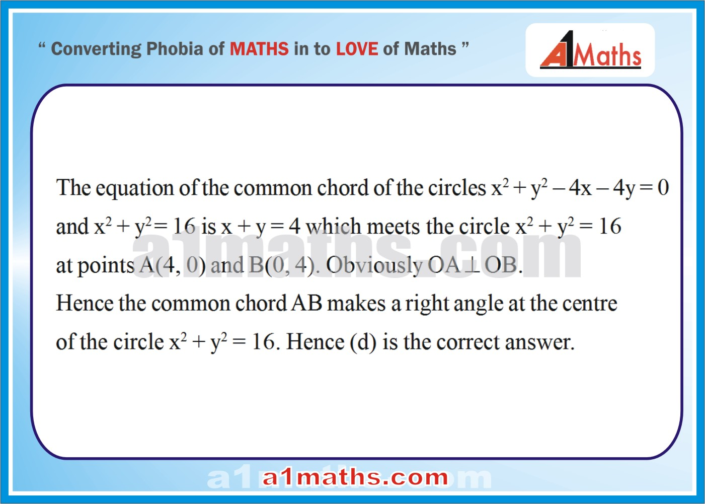 Objective-Solved Problems-11-1-Circle-Coordinate Geometry-IIT-JEE