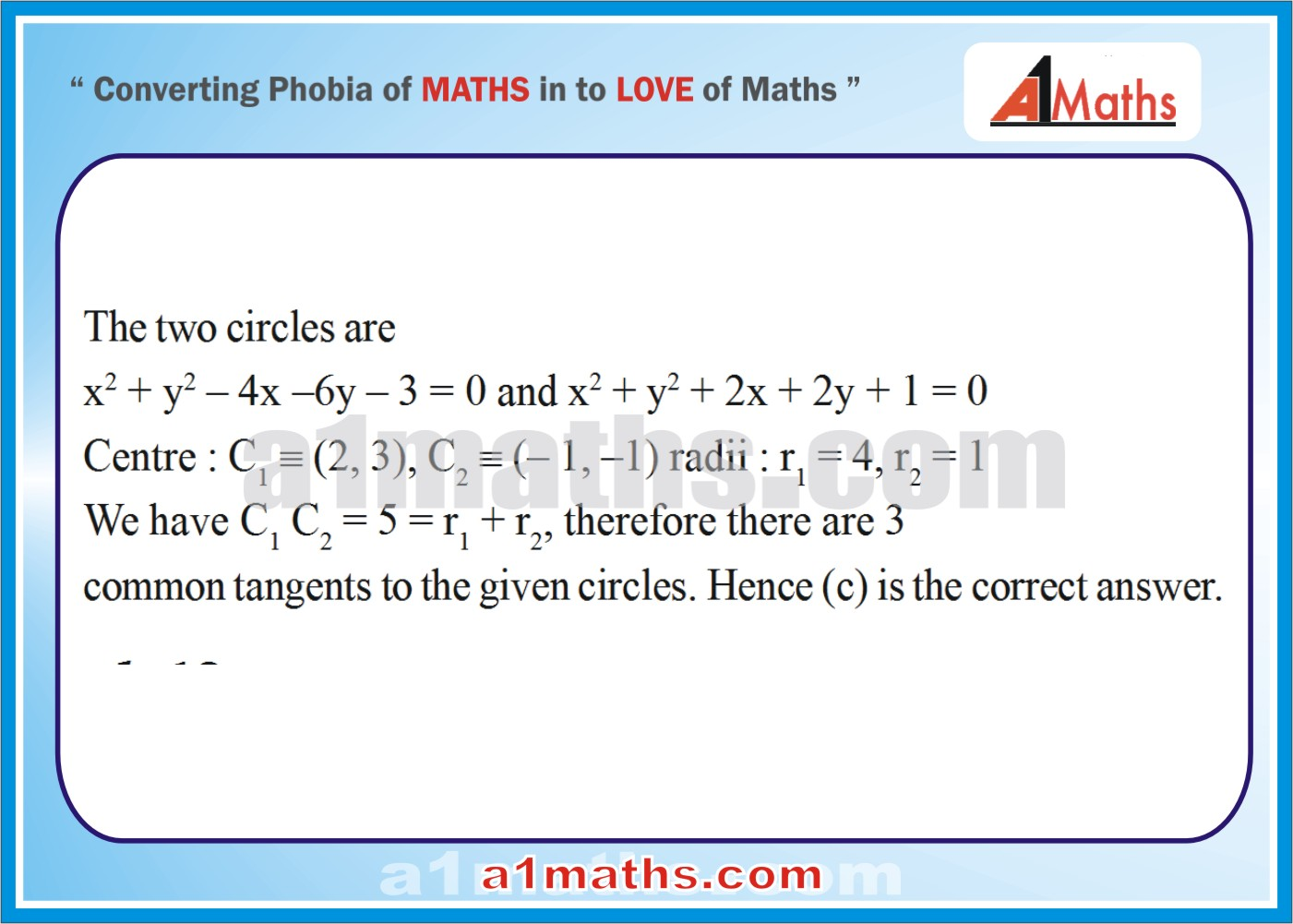 Objective-Solved Problems-12-1-Circle-Coordinate Geometry-IIT-JEE