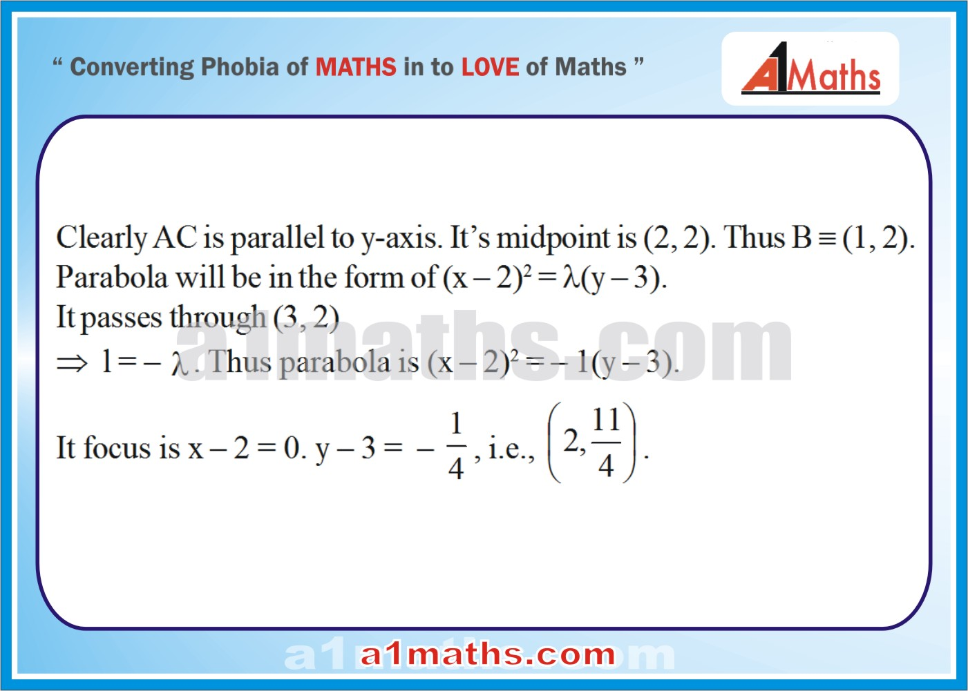 Objective-Solved Problems-15-1-Parabola-Coordinate Geometry-IIT-JEE