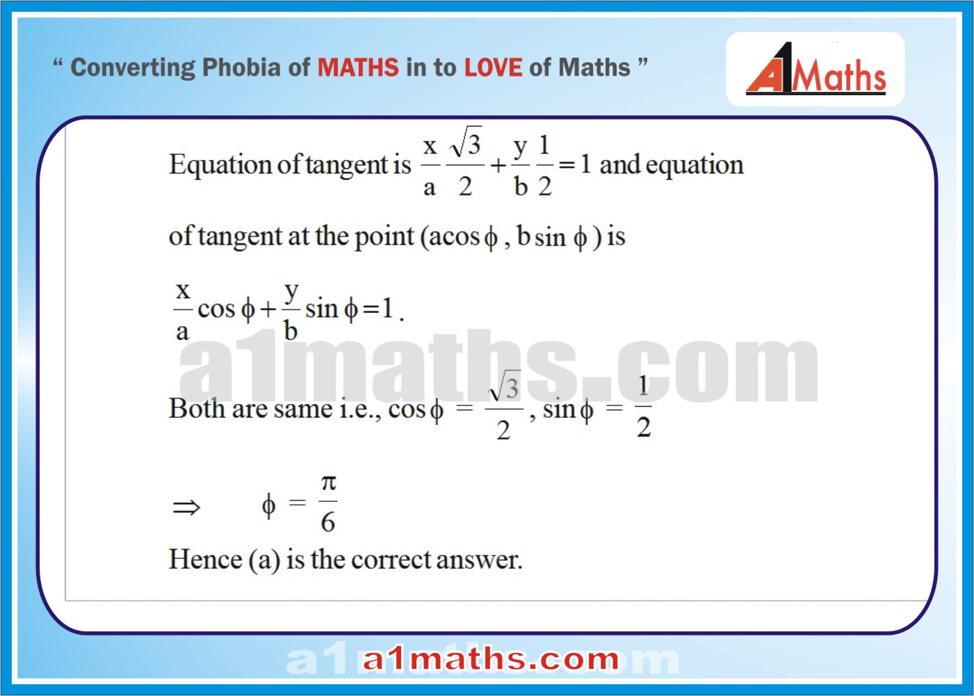 Objective -Solved Problems-5-1-Ellipse-Coordinate Geometry-IIT-JEE