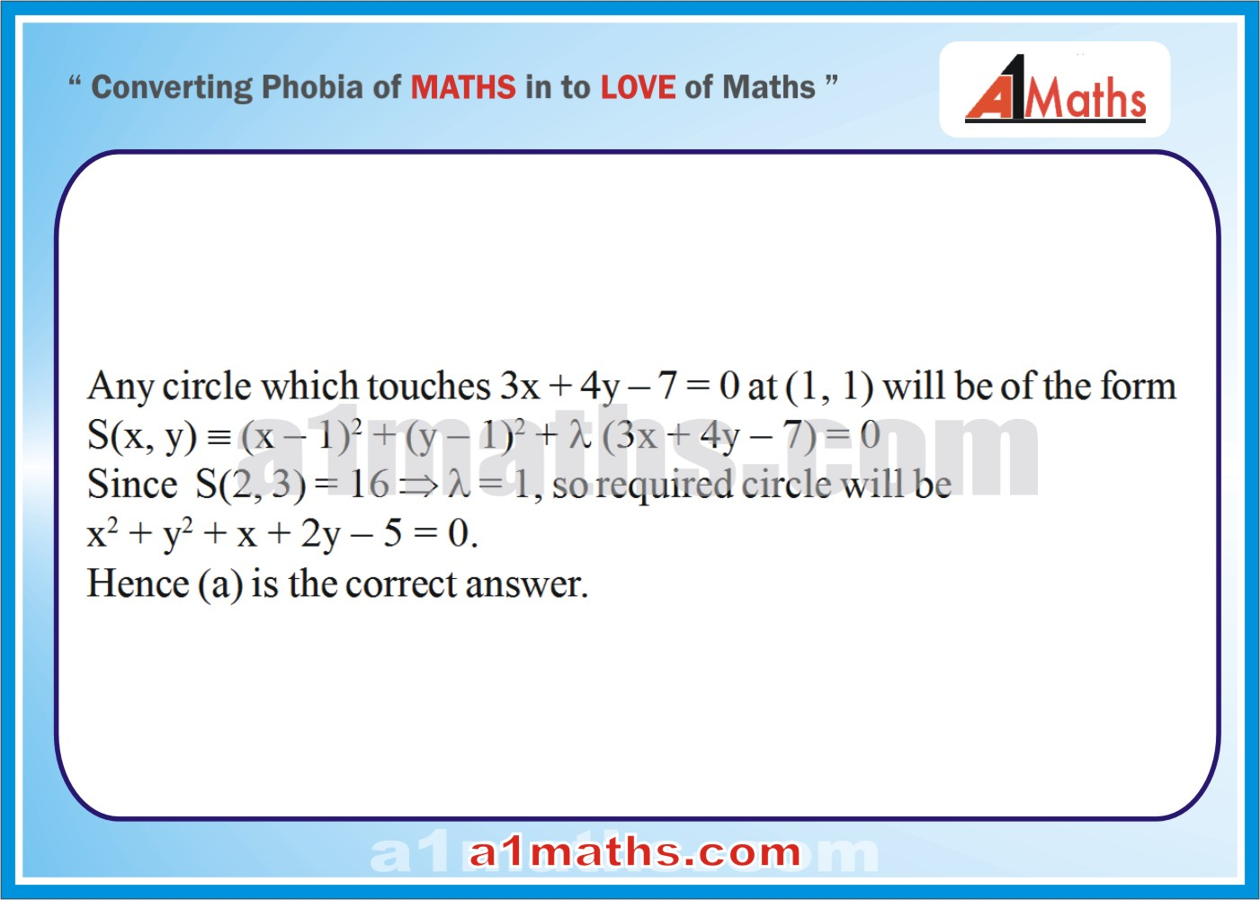 Objective-Solved Problems-6-1-Circle-Coordinate Geometry-IIT-JEE