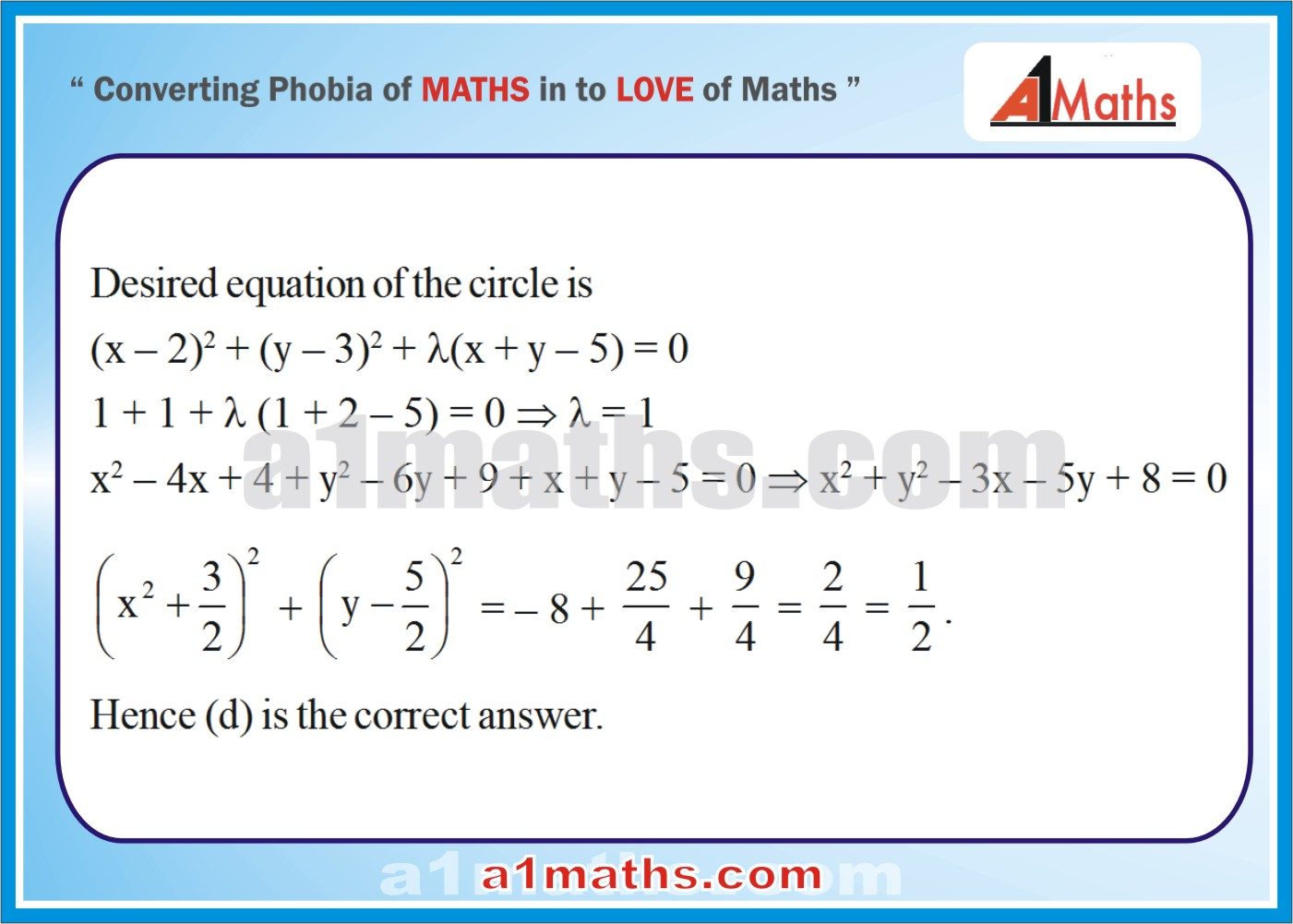 Objective-Solved Problems-8-1-Circle-Coordinate Geometry-IIT-JEE