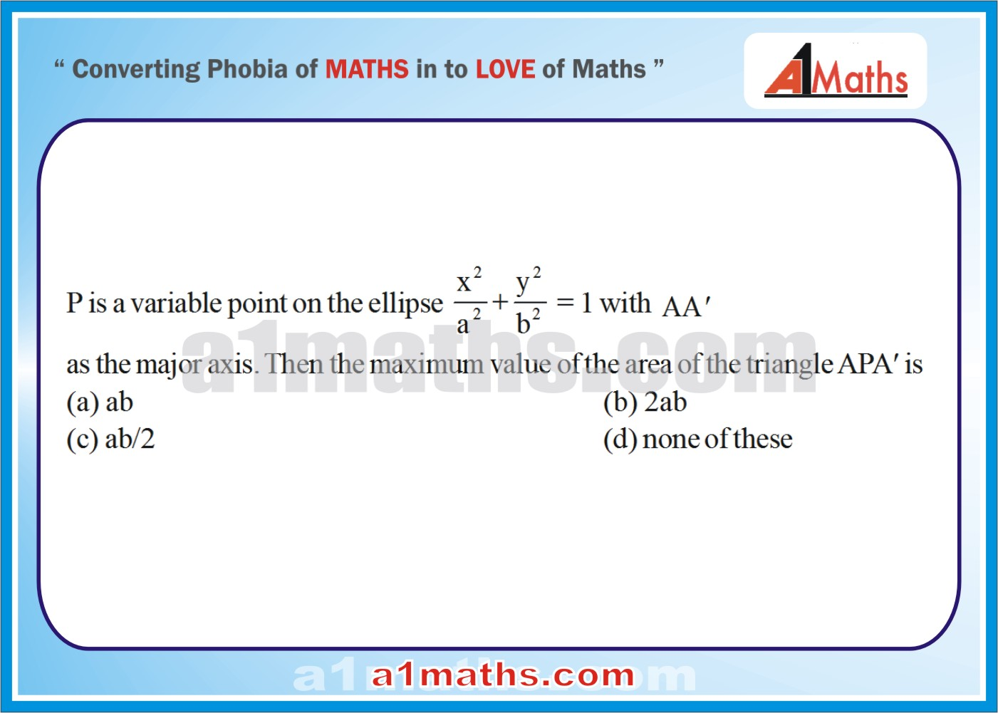 P-Objective-Solved Problems-9-1-Ellipse-Coordinate Geometry-IIT-JEE