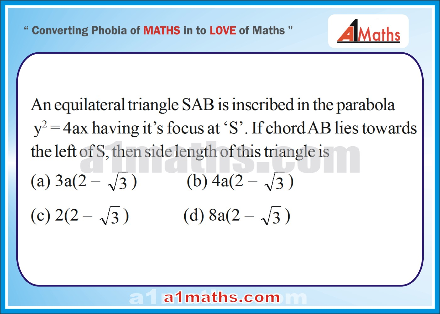P-Solved-Objective- Problems-11-1-Parabola-Coordinate Geometry-IIT-JEE