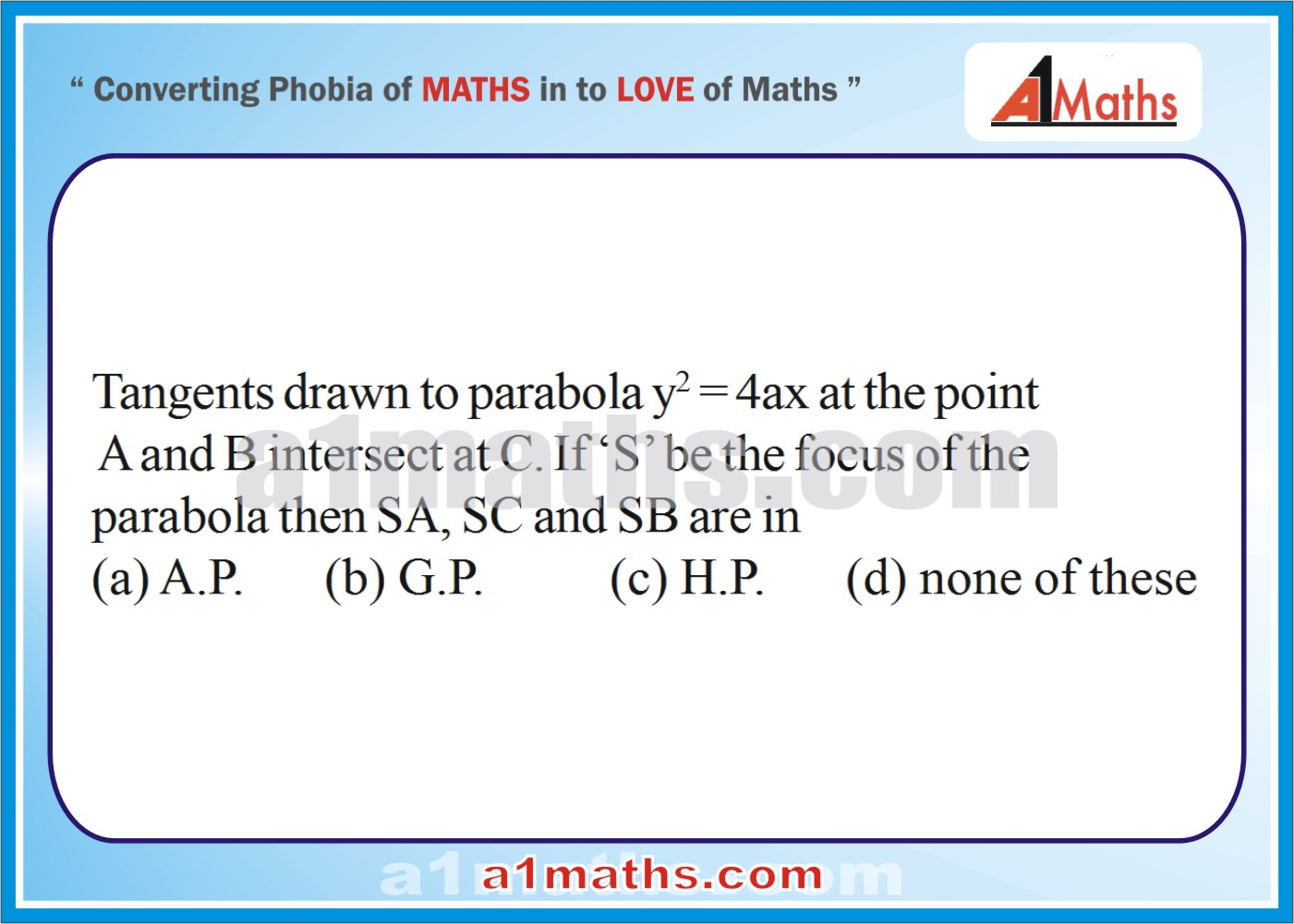 P-Solved-Objective- Problems-6-1-Parabola-Coordinate Geometry-IIT-JEE