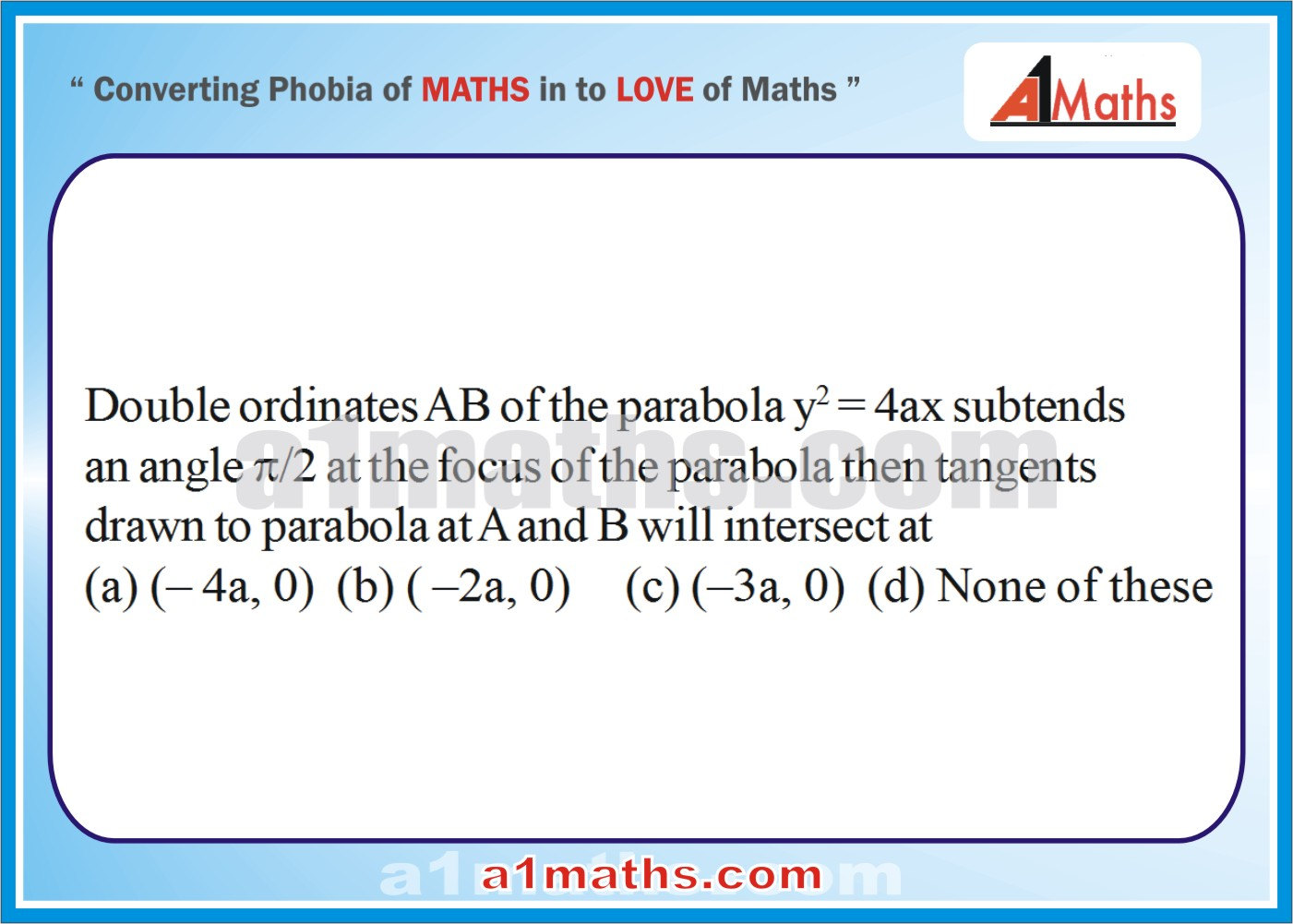 P-Solved-Objective- Problems-7-1-Parabola-Coordinate Geometry-IIT-JEE