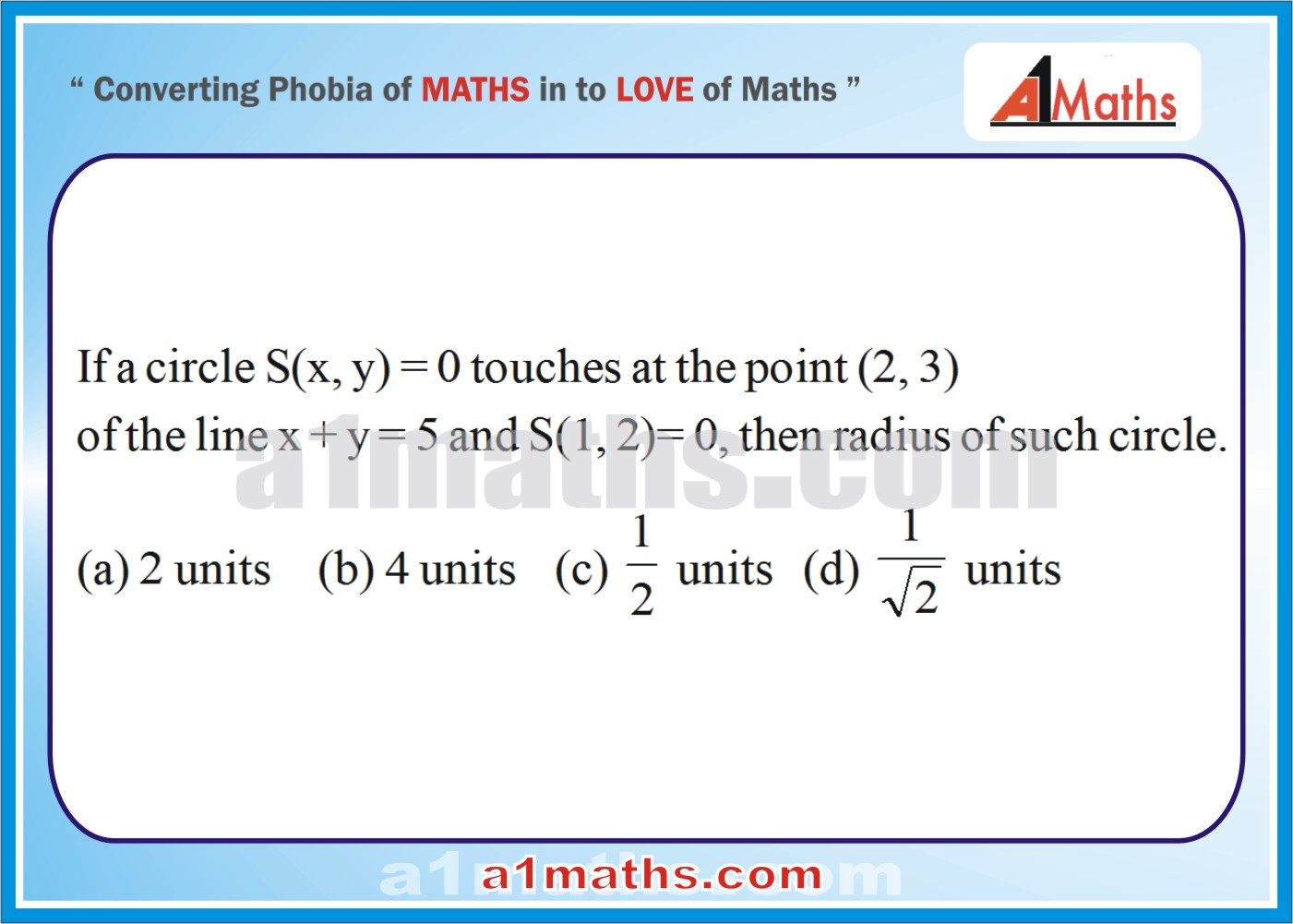 P-Solved-Objective - Problems-8-1-Circle-Coordinate Geometry-IIT-JEE