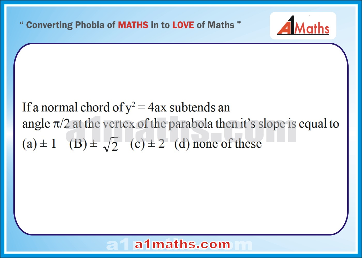 P-Solved-Objective- Problems-8-1-Parabola-Coordinate Geometry-IIT-JEE