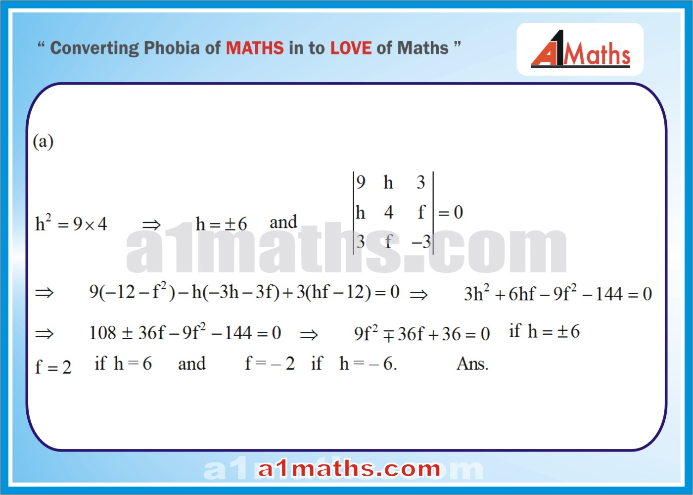Pair of lines-Coordinate Geometry-Maths-Solved-Objective