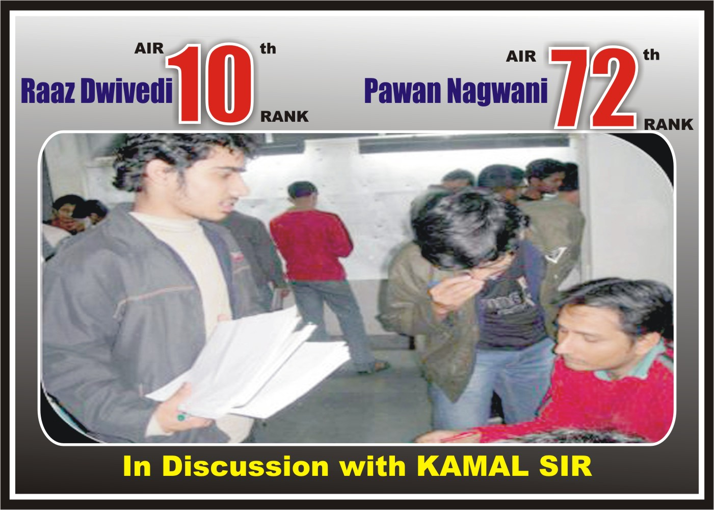 kamal sir in discussion with his students